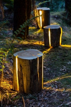 lamps in the garden